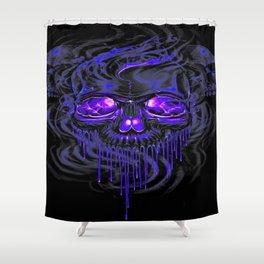 Purple Nurpel Skeletons Shower Curtain