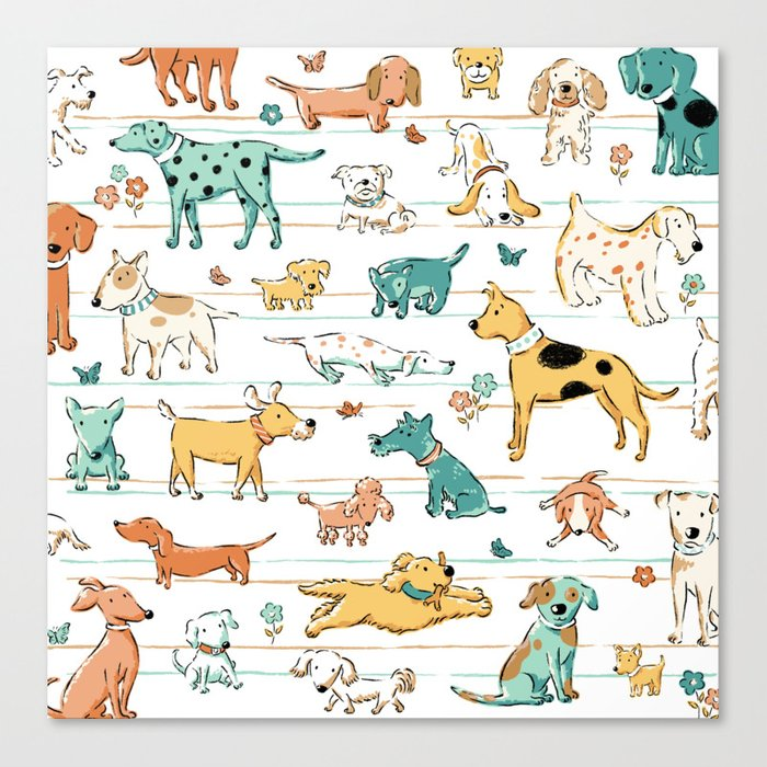 Dogs Dogs Dogs Leinwanddruck