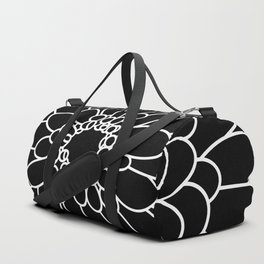 Black Chrysanth Duffle Bag