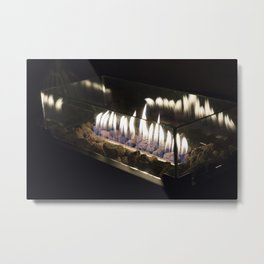 Flames in the Night Metal Print