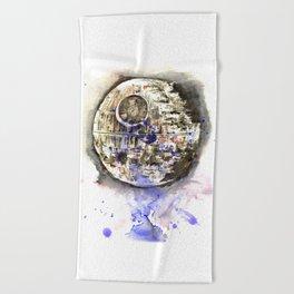Star War Art Painting The Death Star Beach Towel