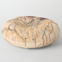 "Egon Schiele ""Mann und Frau, Umarmung"" Floor Pillow"