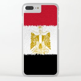 Flag of Egypt - Extruded Clear iPhone Case