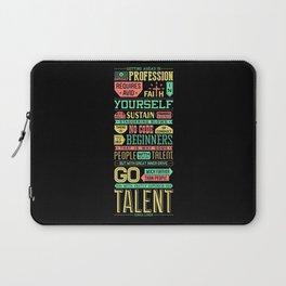 Lab No. 4 Getting Ahead Sophia Loren Motivational Quotes Laptop Sleeve
