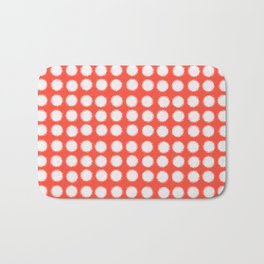 milk glass polka dots fiesta red Bath Mat