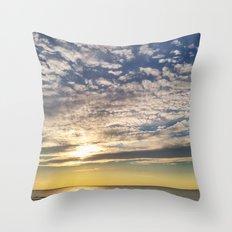 Beach at Port Franks, Ontario Throw Pillow