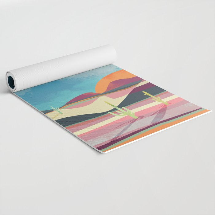 Pink Desert Glow Yoga Mat