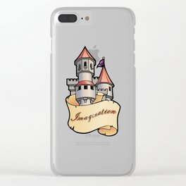 Fantasy Castle Clear iPhone Case