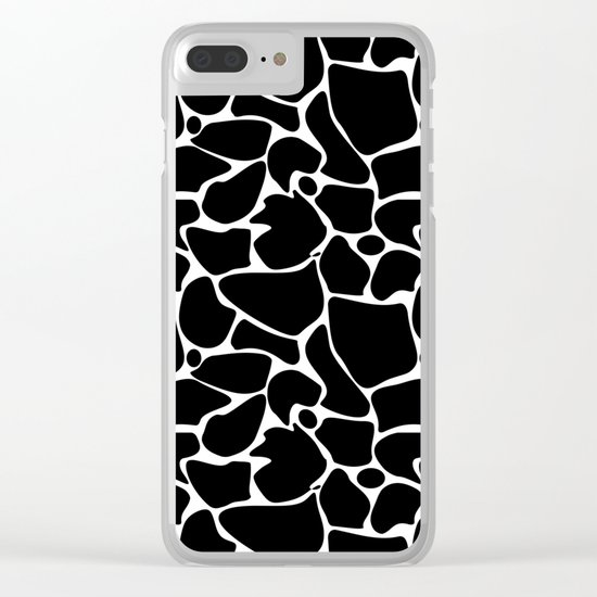 Black and white abstract pattern . Clear iPhone Case