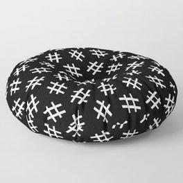 Hashtag Me (white on black version) Floor Pillow