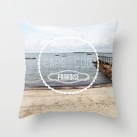 cape cod Throw Pillows featuring Cape Cod Paradise  by Caroline Fahey
