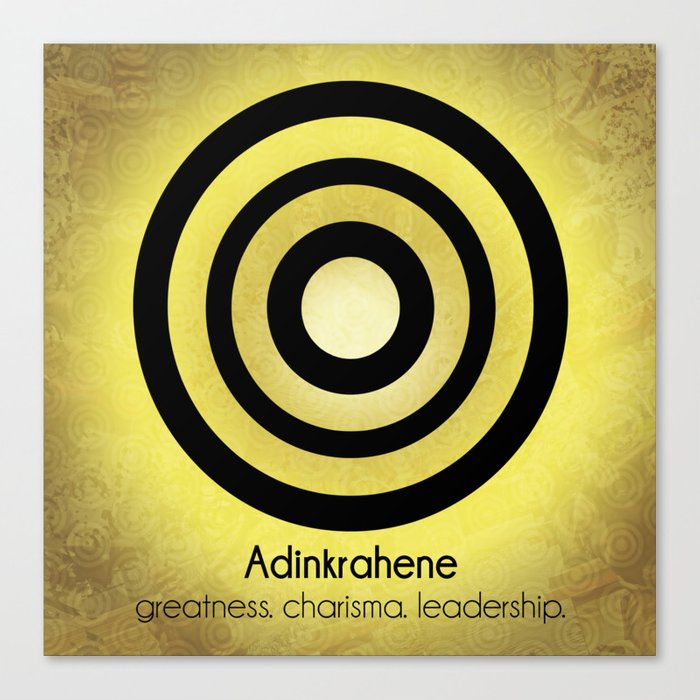 adinkrahene adinkra art poster canvas print by maxinemakes society6