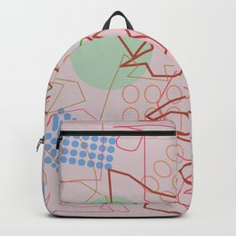 Abstract 8 pink Backpack