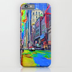 Times Square Paint Spill iPhone 6s Slim Case