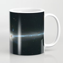 Colliding galaxies, Mice Galaxies, spiral galaxies in constellation Coma Berenices. Coffee Mug