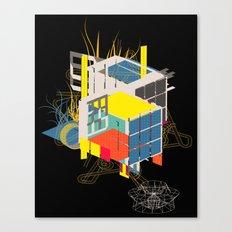 rubik's building - vienna 2044 - 4 colors version Canvas Print