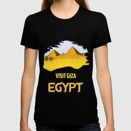 Retro vintage style visit Egypt pyramids travel ad  T-shirt