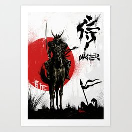 Samurai Master Art Print