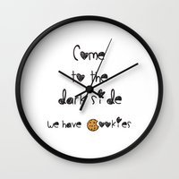 cookies Wall Clocks featuring Cookies by Antaka Overdose
