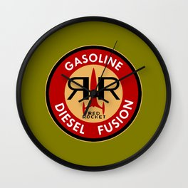 Fallout Red Rocket Gasoline Wall Clock