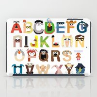 whatever iPad Cases featuring Muppet Alphabet by Mike Boon