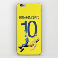 zlatan iPhone & iPod Skins featuring Zlatan Ibrahimović Sweden Bicycle Kick Print by graphics17