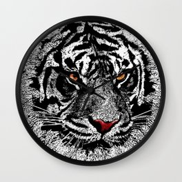 white tiger iPhone 4 4s 5 5c 6 7, pillow case, mugs and tshirt Wall Clock