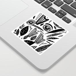 Eye Harp Leaves Sticker