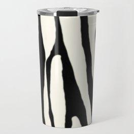 Zebra Stripes Tribal Black and Cream Travel Mug