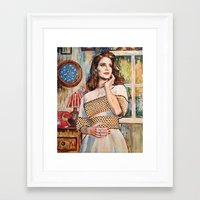 lana del rey Framed Art Prints featuring Lana Rey by Iván Gabela