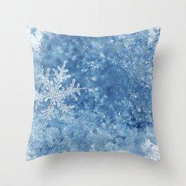 Winter wonderland Snowflakes Throw Pillow
