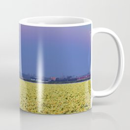 Rainbow at Narcissus field Coffee Mug