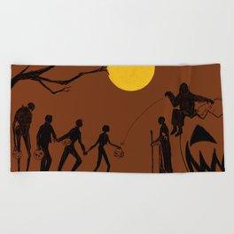 Rogue Halloween Beach Towel