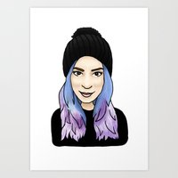 gemma Art Prints featuring Gemma by hannahbee