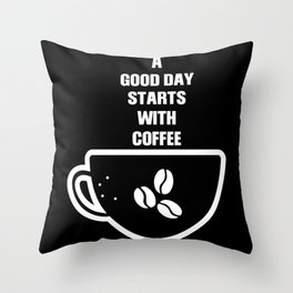 Good Day With Coffee Breakfast Throw Pillow