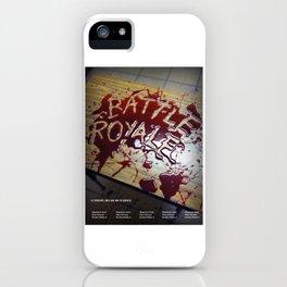 Battle Royale - Japanese film poster iPhone Case