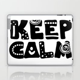 Keep calm lettering Laptop & iPad Skin