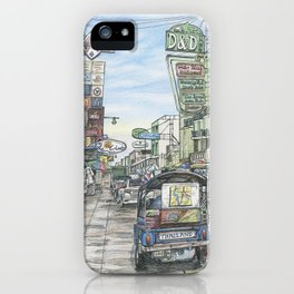 One day in Bangkok iPhone Case