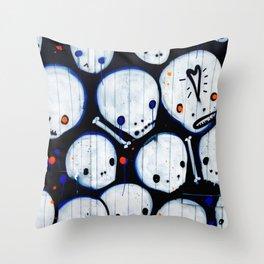 Cute Skulls Throw Pillow