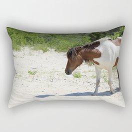Wild Horse of Assateague Island Rectangular Pillow