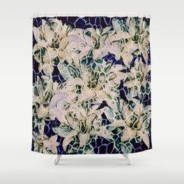 Flowered Giraffe Print Shower Curtain
