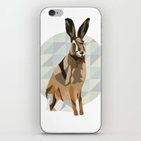 hare iPhone & iPod Skins featuring Hare by Giulia Zerbini