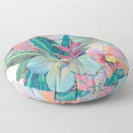 Aqua Ginger Alohas Floor Pillow