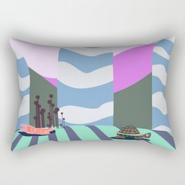 hare and tortoise fable Rectangular Pillow