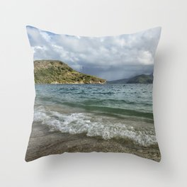 Beach at St. Kitts Throw Pillow