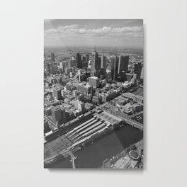 Melbourne monochrome xx Metal Print