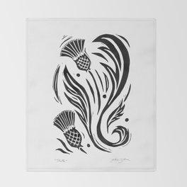 Thistle - Black and White Throw Blanket