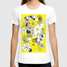 Floral Medley - Yellow T-shirt