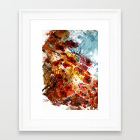 poppies Framed Art Prints featuring Poppies by James Peart