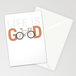 BMX Bikers Cycling Bicycle Bicycling Exercise Workout Life Is Good Bike Gift Stationery Cards